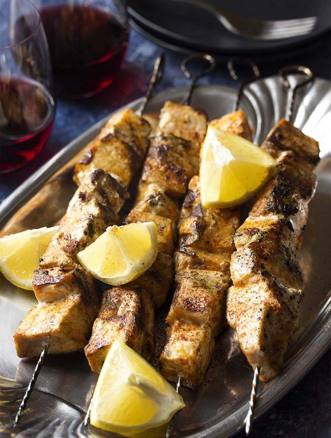 Grilled Spanish Swordfish Kebabs