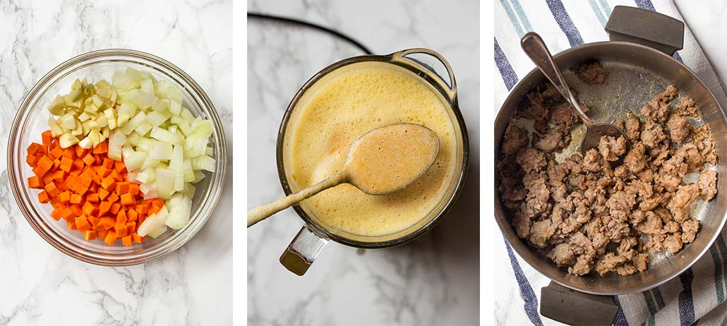 Step by step on how to start the recipe.