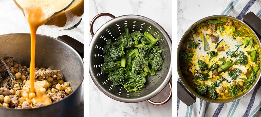Step by step on how to finish the recipe.