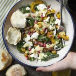 Kale, Chickpea and Roasted Delicata Squash Salad