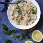 Creamy Lemony Pressure Cooker Shrimp Risotto