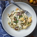 One Pot Creamy Chicken Fettuccine Alfredo