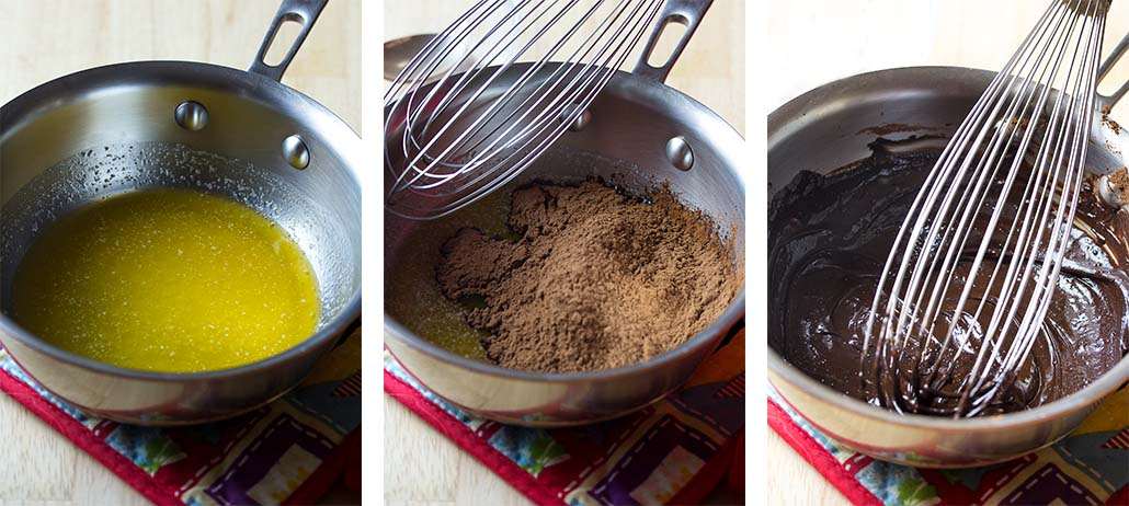 Step by step how to make chocolate slice and bake cookies - bloom the cocoa
