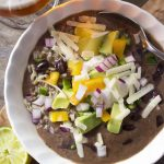 Simple Vegetarian Black Bean Soup