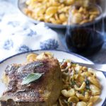 Herb and Cheese Stuffed Pork Chops with Pasta