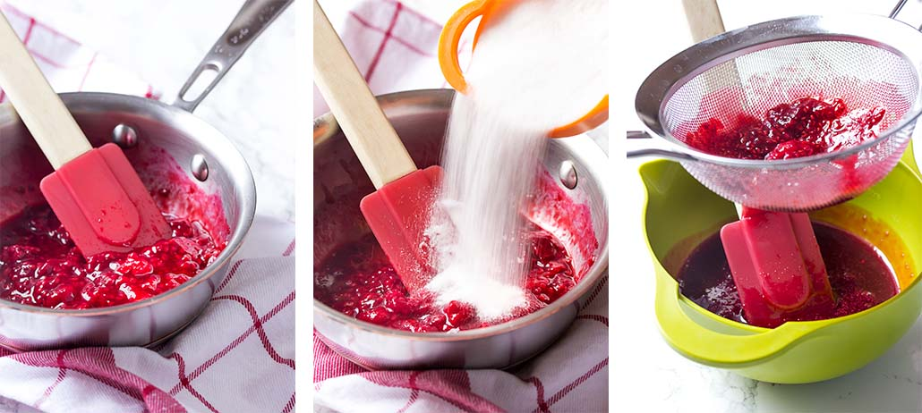 Step by step on how to make the syrup.