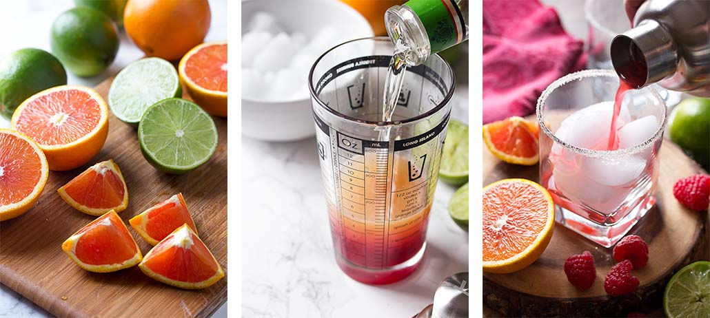 Step by step on how to make the drink.