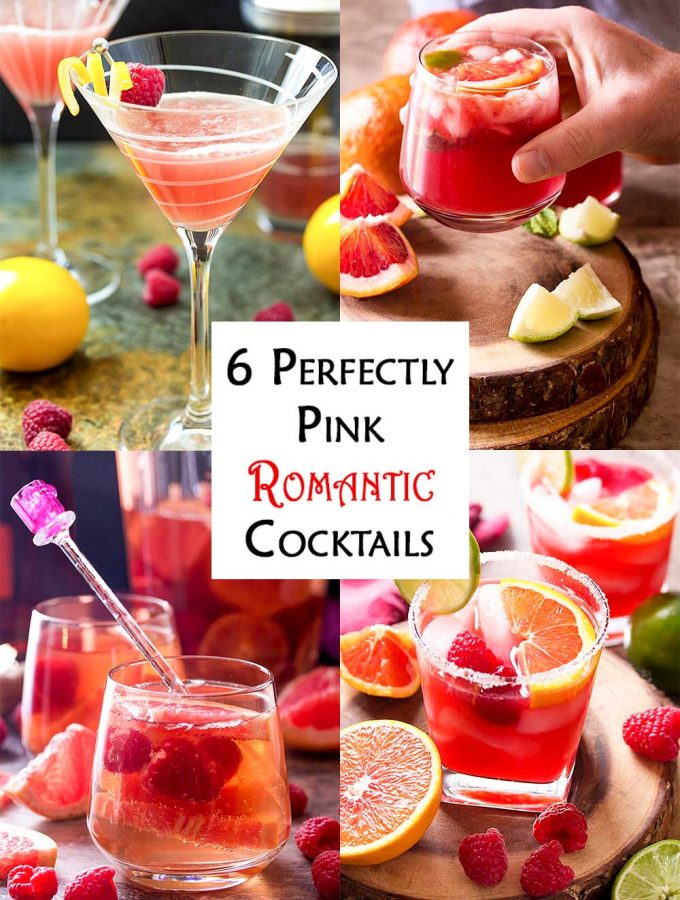 Looking for a signature cocktail? Or maybe you just adore romantic cocktails for Valentine's Day? Then you need to try these fun, fruity, easy, and pretty pink cocktails full of love and passion! | justalittlebitofbacon.com #cocktails #drinks #valentinesday #datenight #fruitydrinks #fundrinks