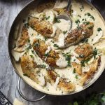 Creamy Skillet Chicken and Artichokes