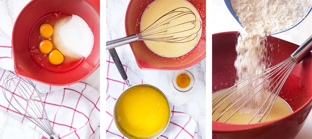 Step by step on how to make the dough.