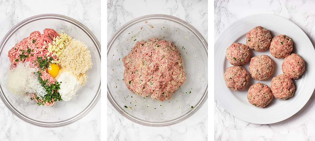 Step by step on how to make Italian meatball sliders.
