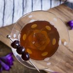 How to make the best classic Manhattan cocktail! This perfectly balanced drink is made from bourbon, sweet vermouth, Amarena cherries, a dash of bitters. | justalittlebitofbacon.com #cocktails #drinks #bourbondrinks #manhattan #amarenacherries