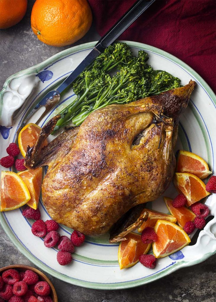 Slow Roasted Duck with Crispy Skin