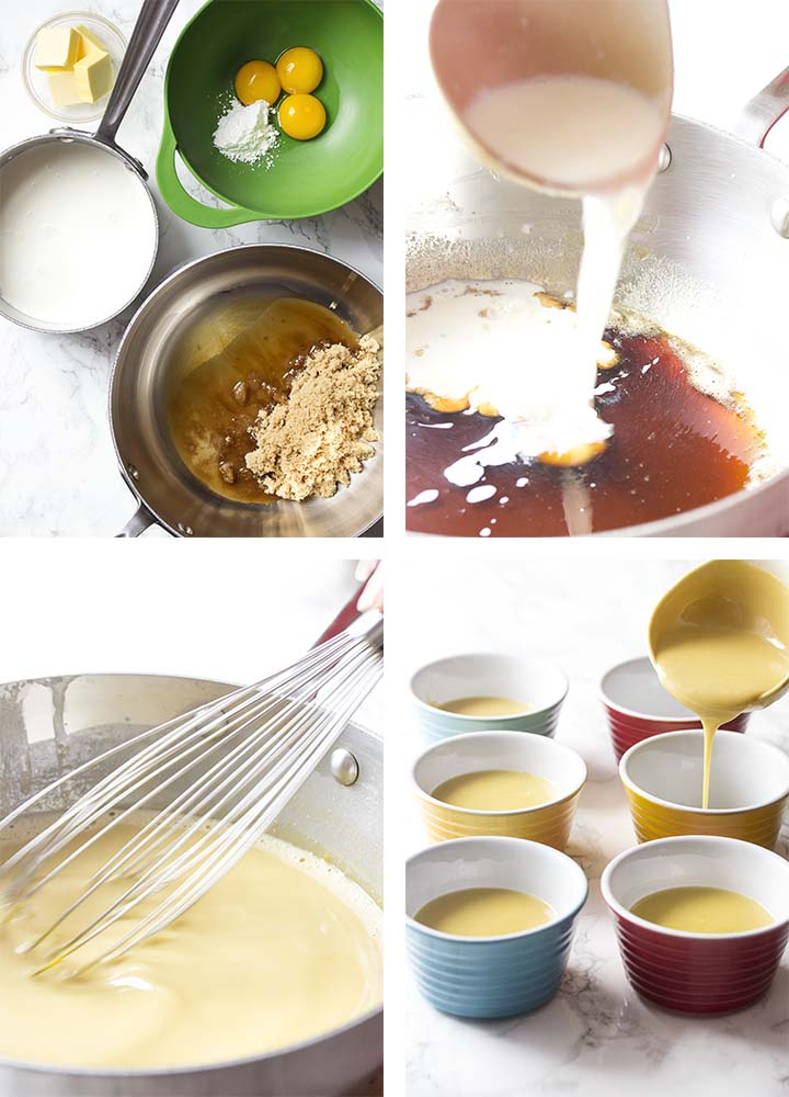 Step by step on how to make homemade butterscotch pudding.