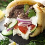 Grilled Skirt Steak Gyros