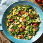 Spring Panzanella Salad with Peas, Arugula, and Mint