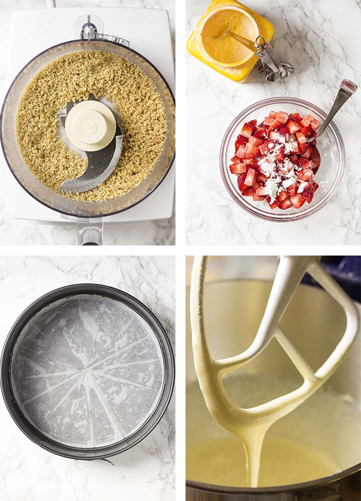 Step by step on how to make fresh strawberry cake.