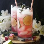 Rhubarb Lime Rickey Cocktail