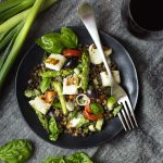 Grilled Halloumi and French Lentil Salad