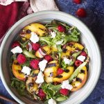 Grilled Peach Summer Salad with Maple Vinaigrette