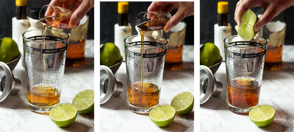 Step by step on how to make bourbon sour cocktails.