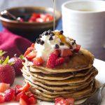 Cannoli Spiced Fluffy Ricotta Pancakes