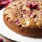 Simple Cranberry Apple Pecan Cake