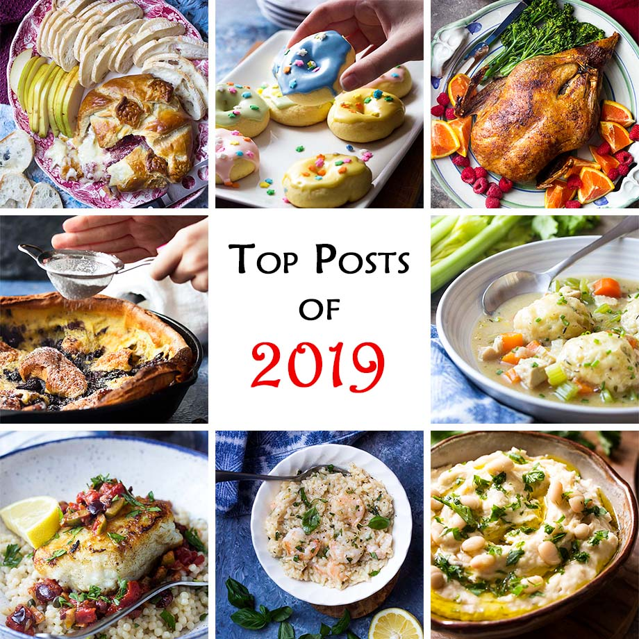 Collage of some of the recipes in the post with text overlay - Top Posts of 2019.