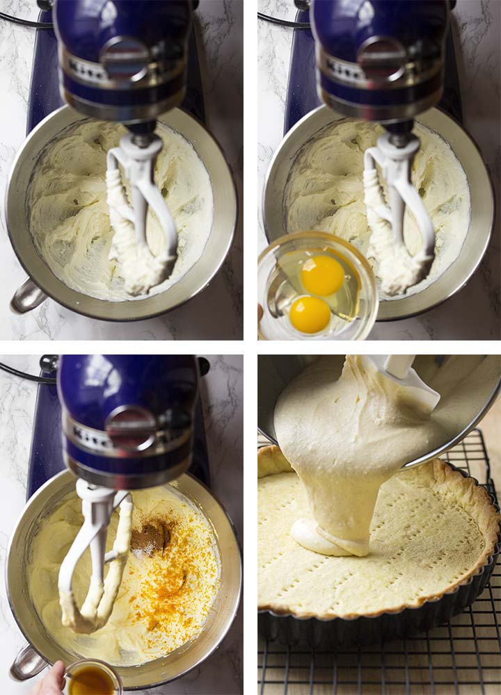 Step by step on how to make an Italian ricotta pie.
