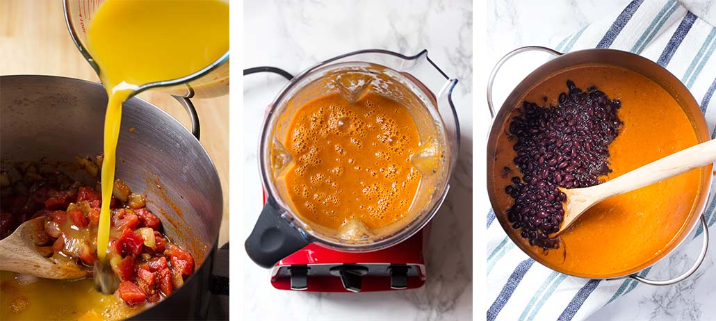 Step by step on how to make the recipe. Steps 4-6.