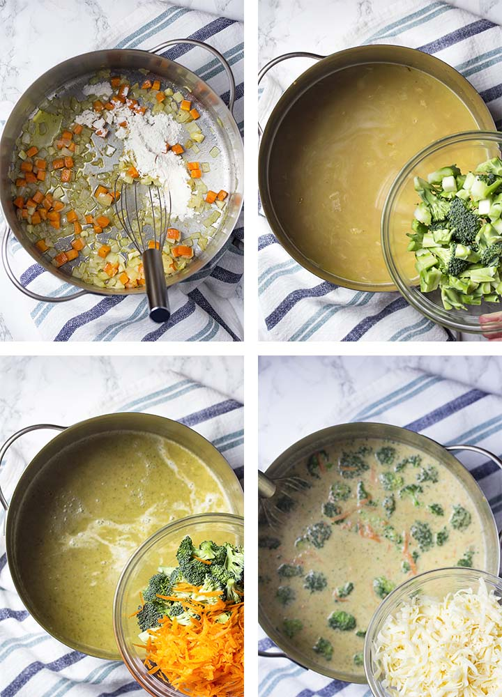 Step by step on how to make the recipe.