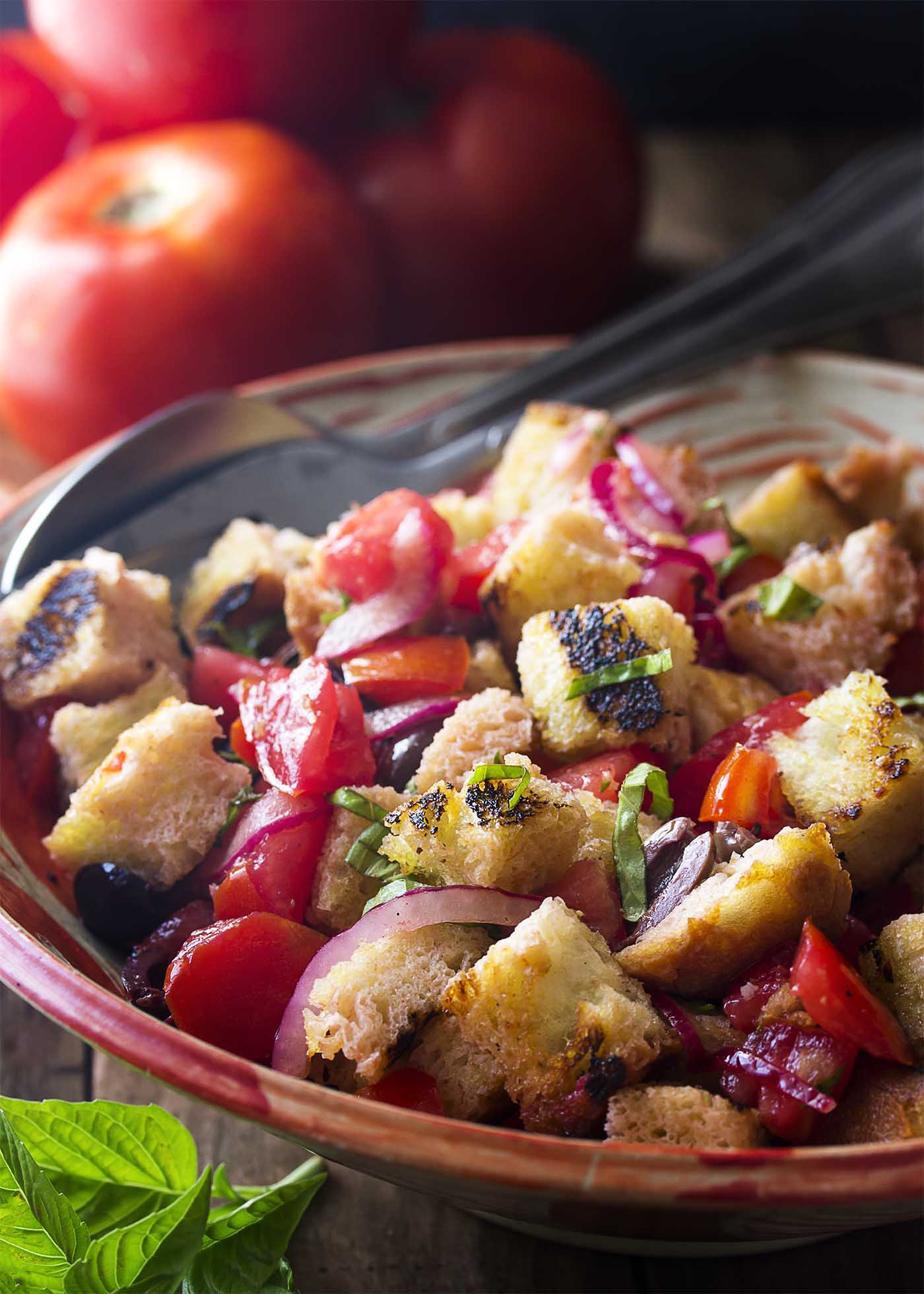 Grilled Italian Panzanella Salad Just A Little Bit Of Bacon