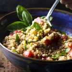 Corn, Tomato, and Farro Salad
