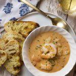 Creamy Shrimp Bisque with Pancetta