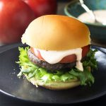 Have dinner on the table in 30 minutes with these homemade black bean burgers! This recipe is quick and easy to make with pantry ingredients. | justalittlebitofbacon.com #blackbeans #beanburgers #burgerrecipes #beans #burgers