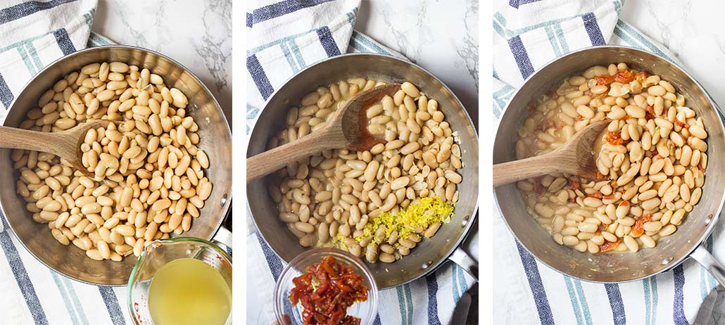 Step by step on how to make the beans.