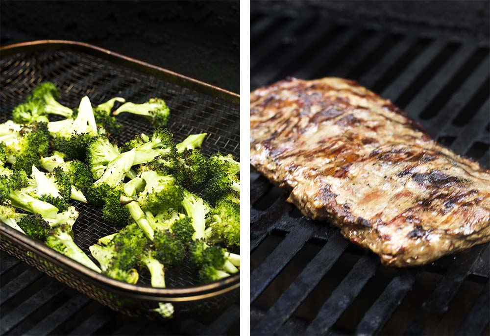 Grilling the salad.
